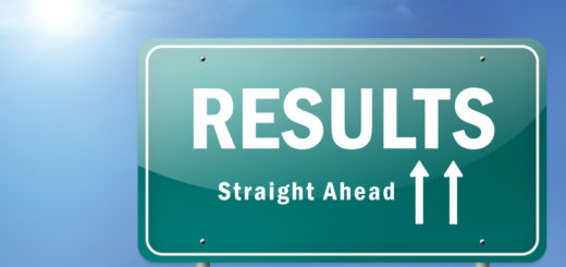 """Highway Sign """"Results - Straight Ahead"""""""